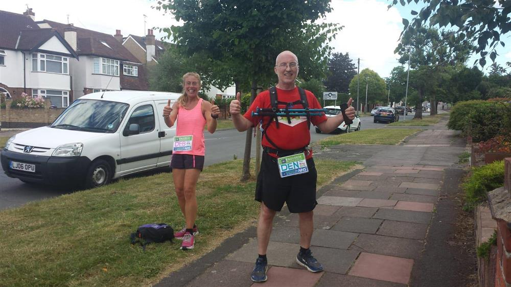 Dennis marks 55th birthday with a 55 mile challenge for Raise