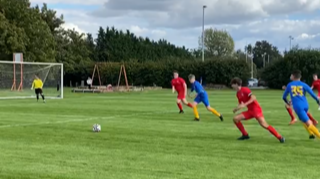 Score! Youth football clubs play match for NHS